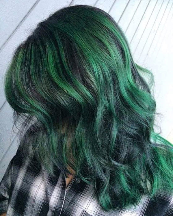 Forest-Green-Balayage