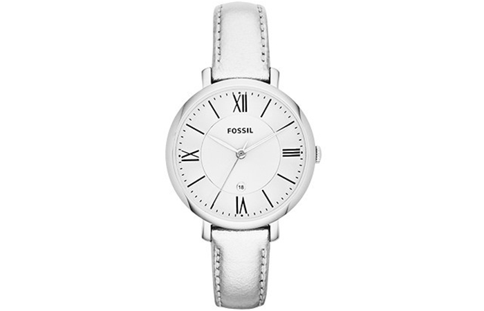 Best Fossil Watches For Indian Women - 12. Fossil Silver Jacqueline