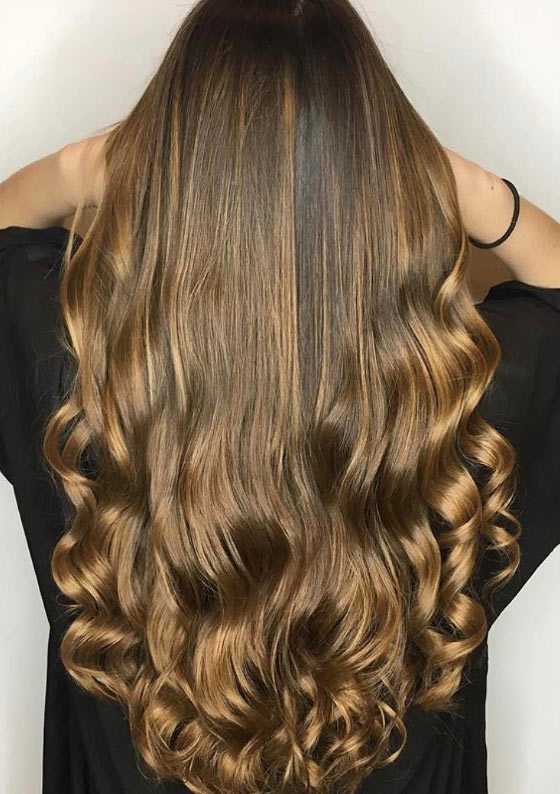 30 chic highlight ideas for your brown hair golden blonde highlights pmusecretfo Gallery