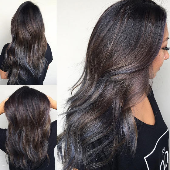 30 chic highlight ideas for your brown hair granite blue highlights pmusecretfo Gallery