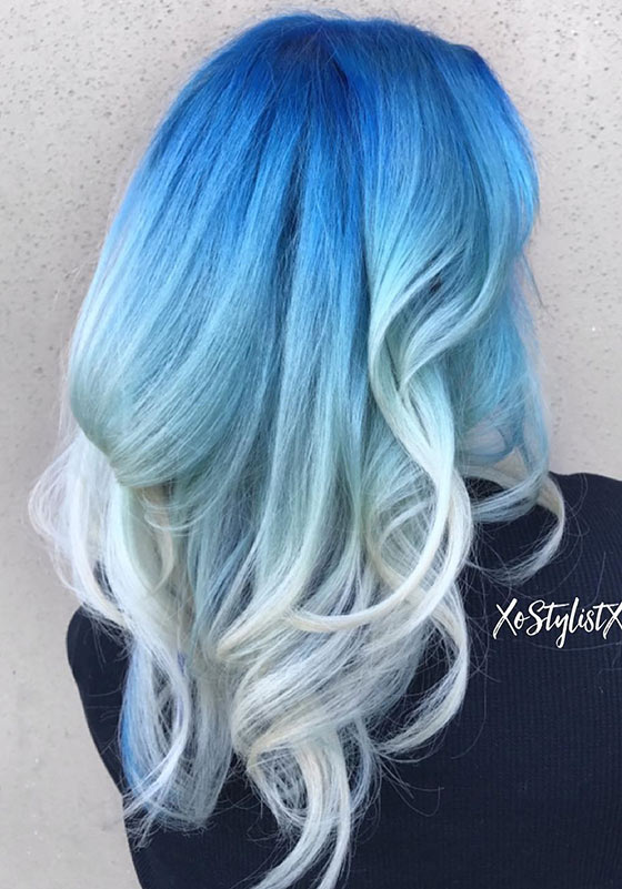 Ice-Queen-Ombré-On-Blowdried-Hair