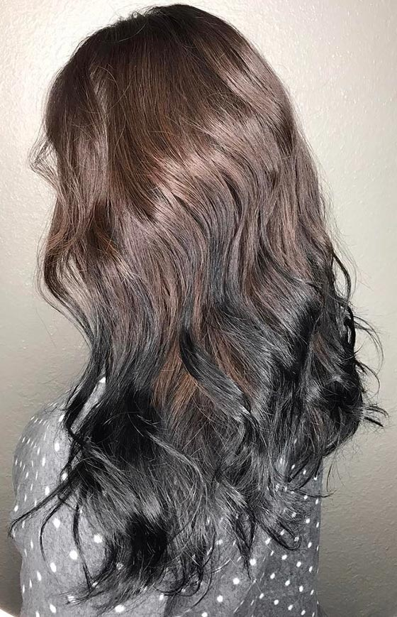 Jet-Black-Ombre-On-Luscious-Curls