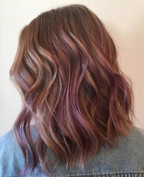 Lavender-Balayage