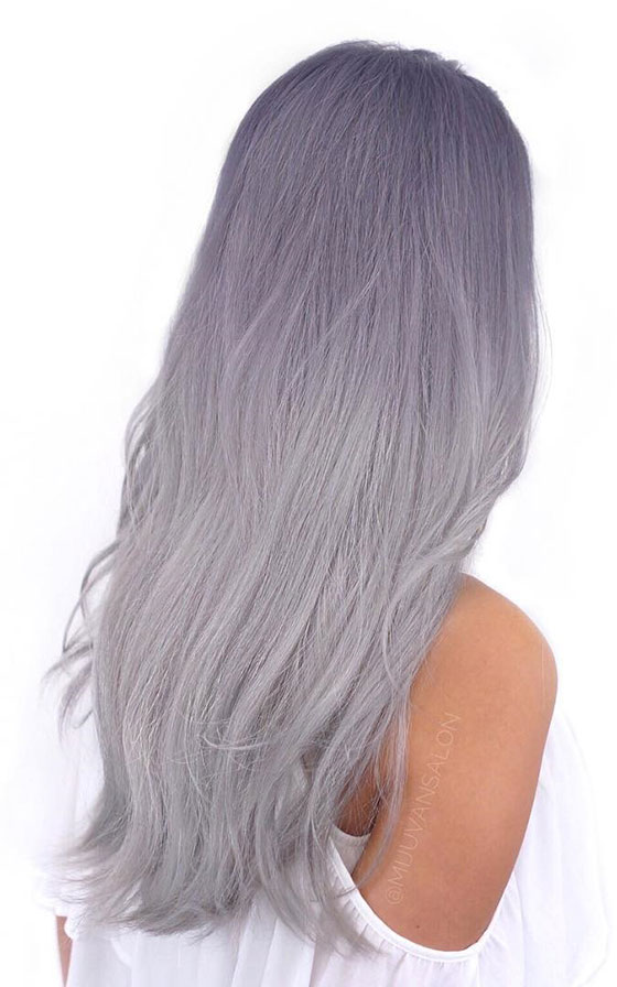 Lilac-Grey-Ombre-On-Long-Hair