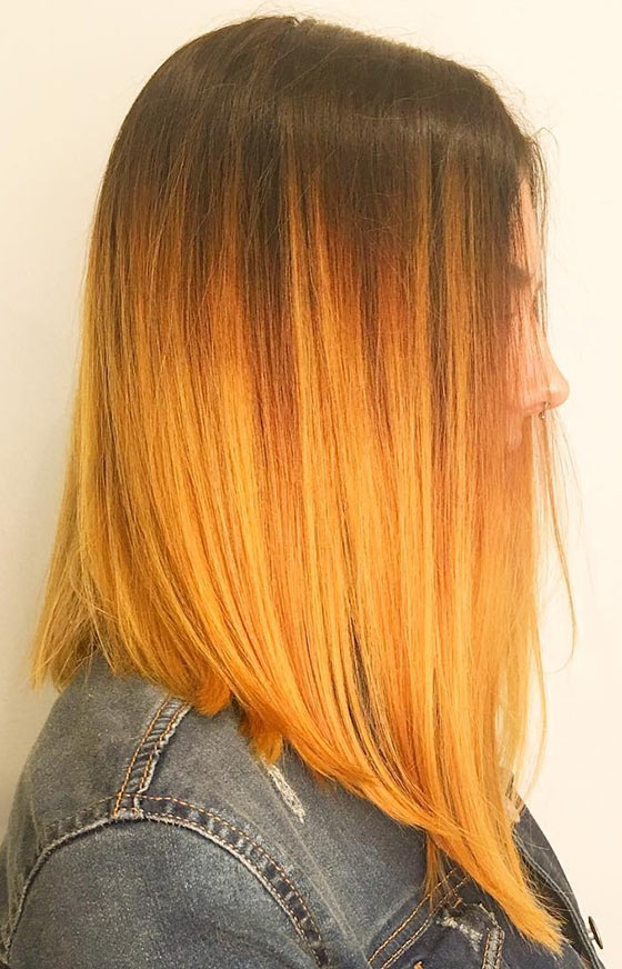 Mellow-Yellow-Ombre-On-Angled-Cut-Hair
