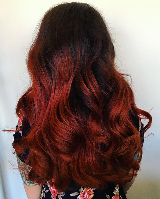 Molten-Lava-Ombre-On-Full-Bodied-Curls