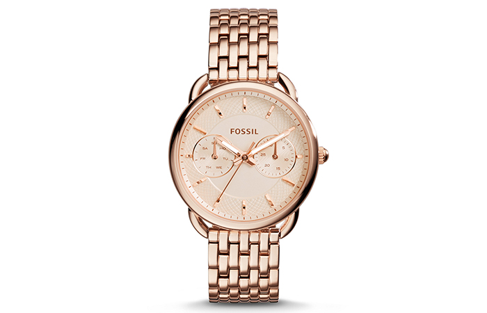 Best Fossil Watches For Indian Women - 20. Multifunction Stainless Steel Watch In Rose Gold