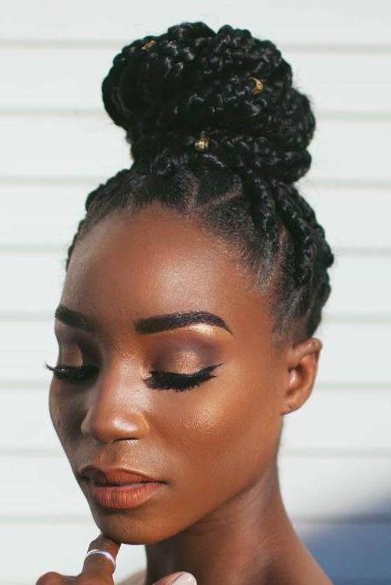 Patterned-Box-Braids-Bun