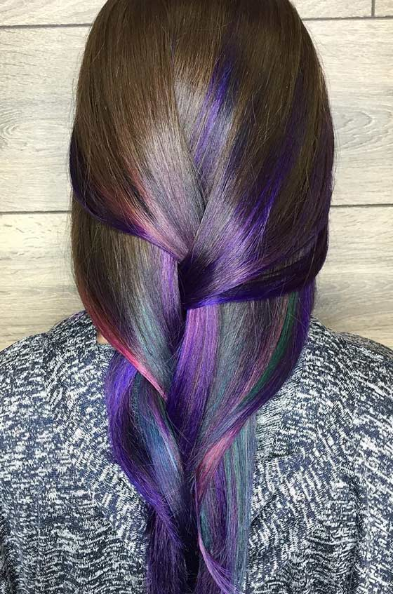 Peacock-Ombré-On-Straight-Hair