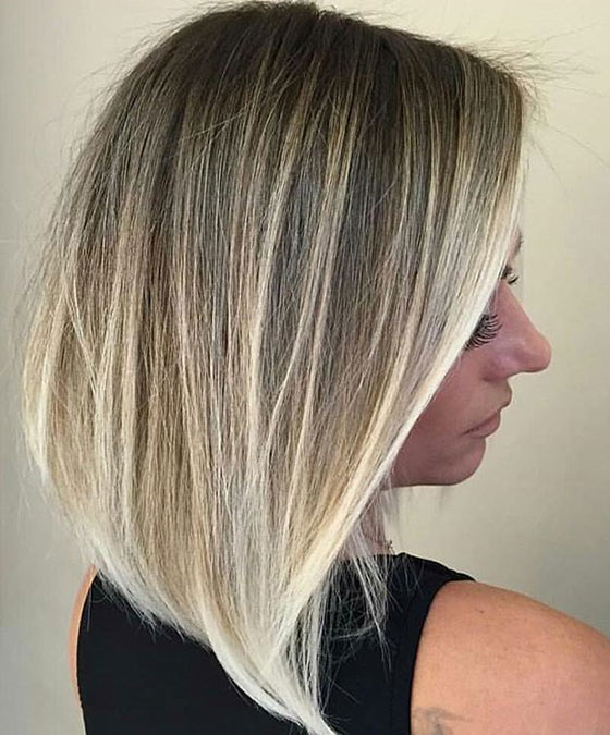 40 ombre hair color and style ideas platinum blonde ombr straight bob urmus Images