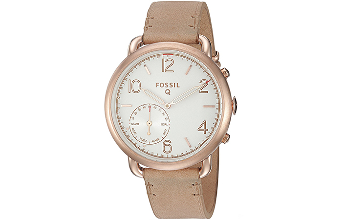 Best Fossil Watches For Indian Women - 6. Q Tailor Leather Hybrid watch