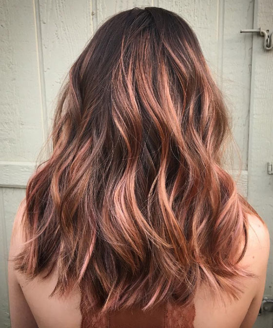 Rose-Gold-Balayage