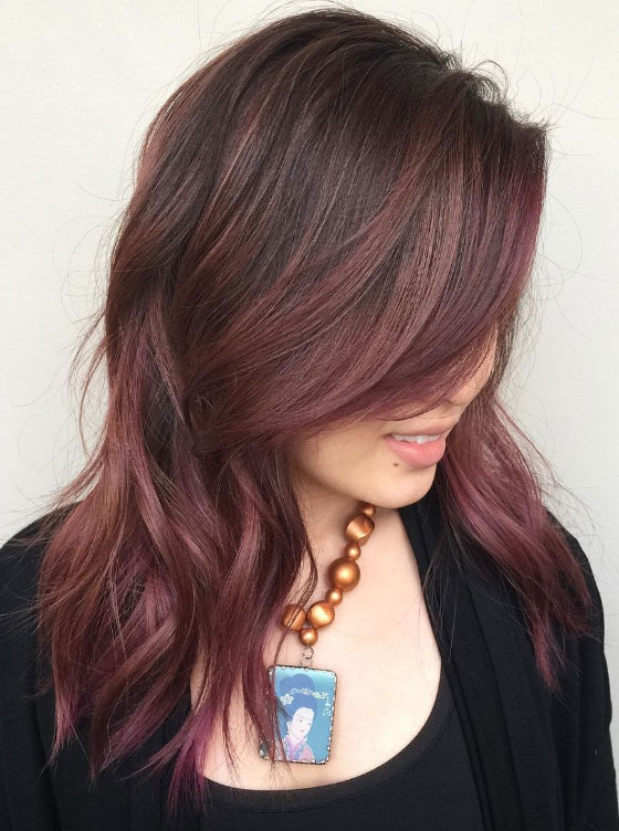 30 chic highlight ideas for your brown hair rouge red highlights pmusecretfo Gallery