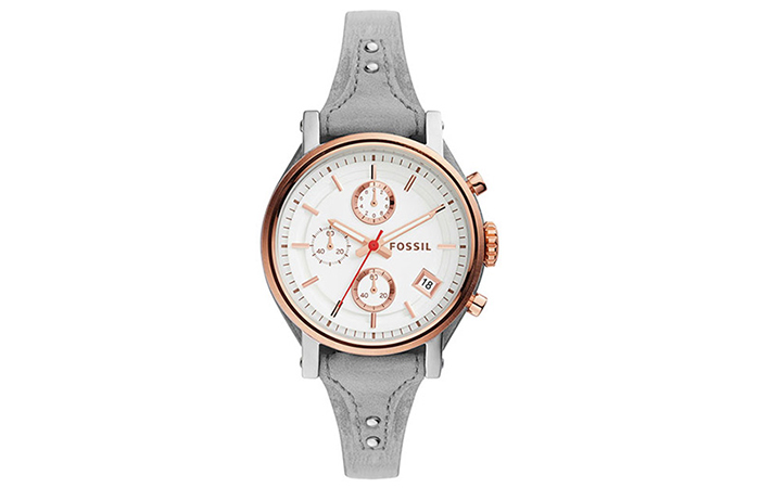 Best Fossil Watches For Indian Women - 11. Round Analog White Dial Watch