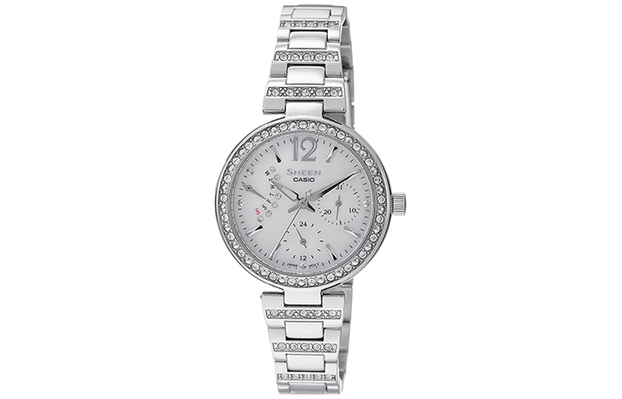 Best Selling Casio Watches For Women - 1. Sheen Analog Silver Watch