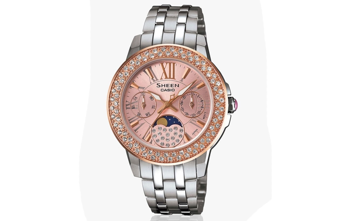 Best Selling Casio Watches For Women - 6. Silver And Rose Gold Watch