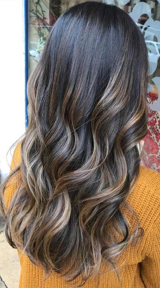 30 chic highlight ideas for your brown hair silver blonde highlights urmus Gallery