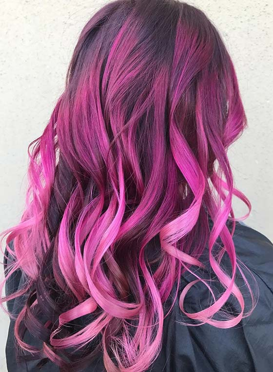 Smoked-Raspberry-Ombré-On-Super-Defined-Curls