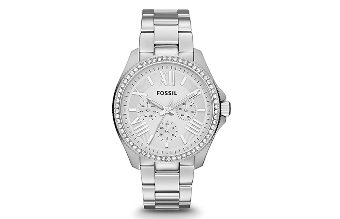 Best Fossil Watches For Indian Women - 5. Stainless Steel Silver Dial Analog Watch