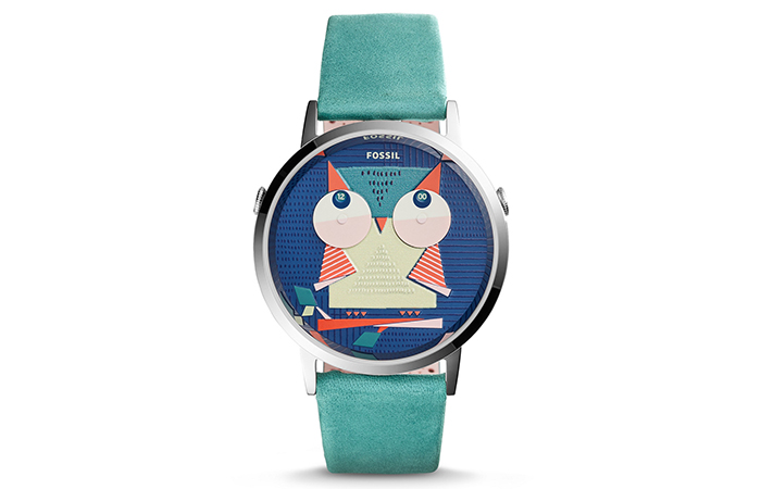 Best Fossil Watches For Indian Women - 17. Vintage Muse Two-Hand Teal Leather Watch