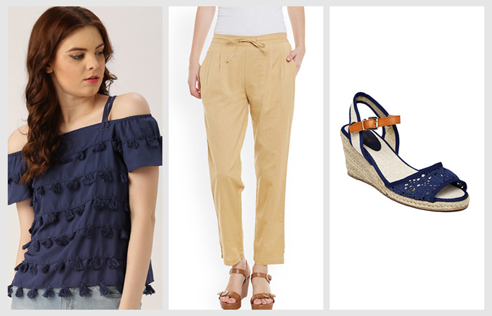 Cold-Shoulder-And-Dhoti-Pants