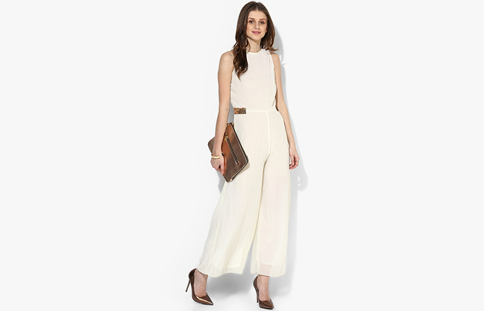 Ivory-Solid-Jumpsuit