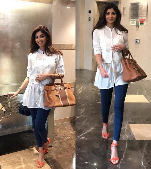 Shilpa-Shetty's-Indo-Western-Work-Look