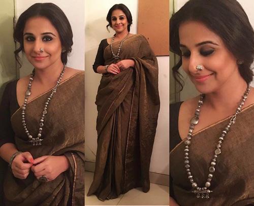 Vidya-Balan-In-A-Handloom-Saree