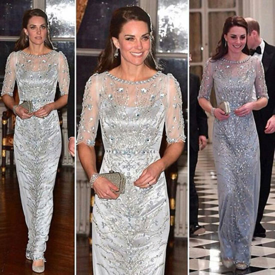 10. Kate Middleton In A Jenny Packham Gown