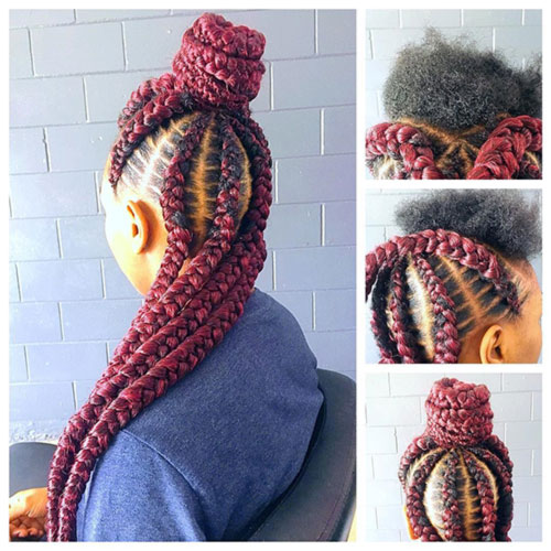 11. Half Up Half Down Goddess Braids
