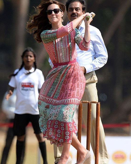 12. Kate Middleton In India