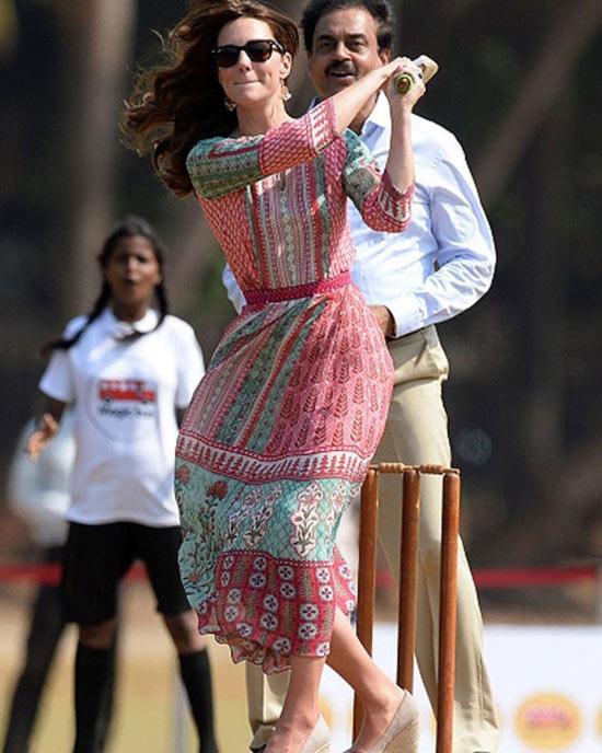 12. Kate Middleton In India