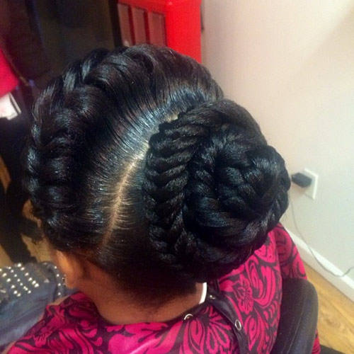 17. Crowned Fishtail Goddess Braid Bun