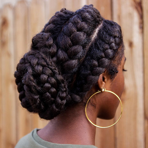20. Royal Goddess Braids Bun