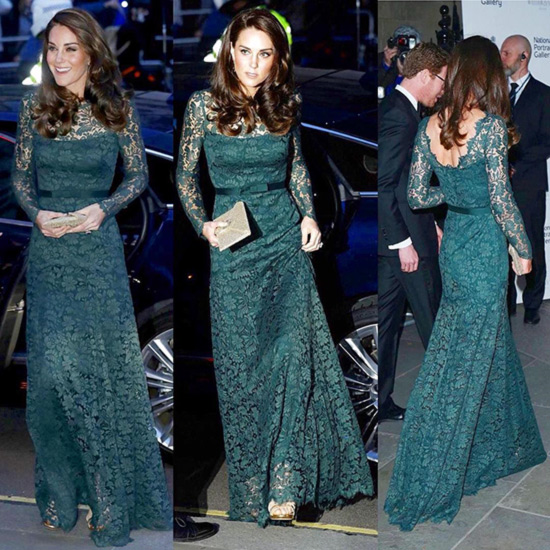 4. Kate In Forest Green Temperley Gown