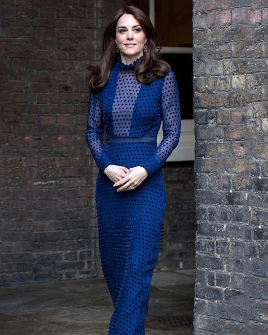 5. Kate Middleton In A Royal Blue Dress