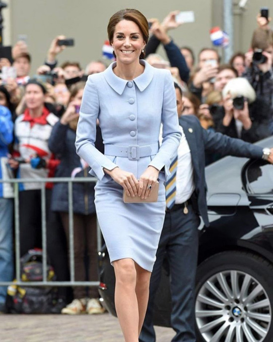 6. Kate In A Powder Blue Dress