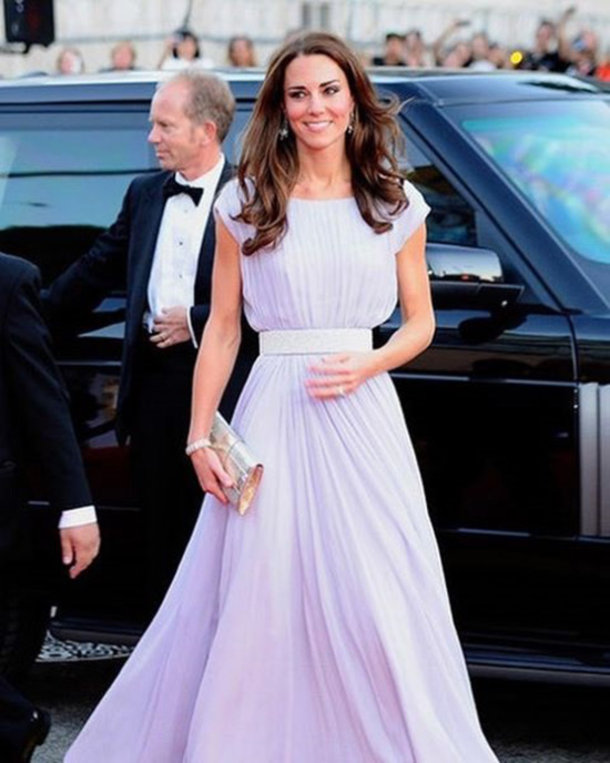 9. Kate In An Elegant Lilac Dress