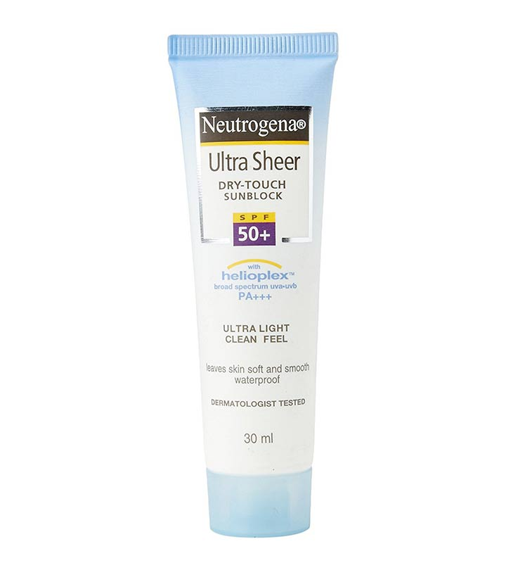 Neutrogena UltraSheer Dry Touch Sunblock SPF 50+ Review