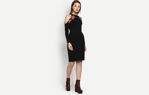 Evening-Dress-With-Ankle-Length-Boots