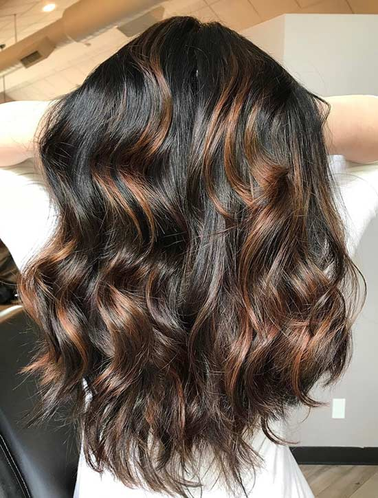 30 breathtaking ideas for styling your caramel highlights caramel highlights on jet black hair pmusecretfo Image collections