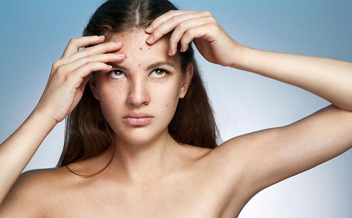 1. Forehead (Digestive System)
