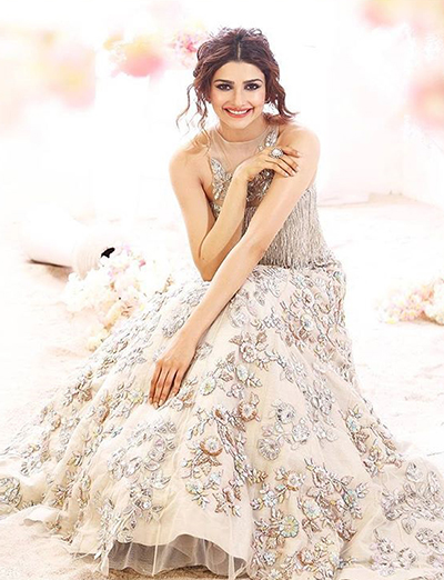10. Prachi Desai In A Nude Bridal Dress