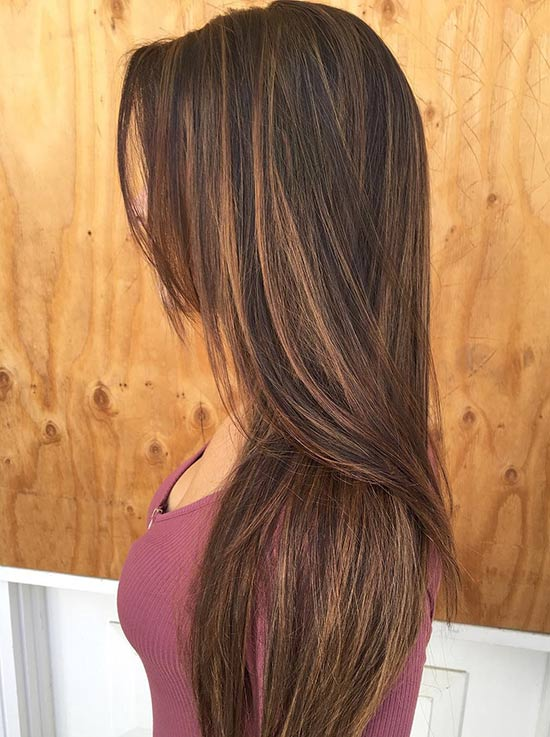 Balayage Highlights Dark Brown Hair