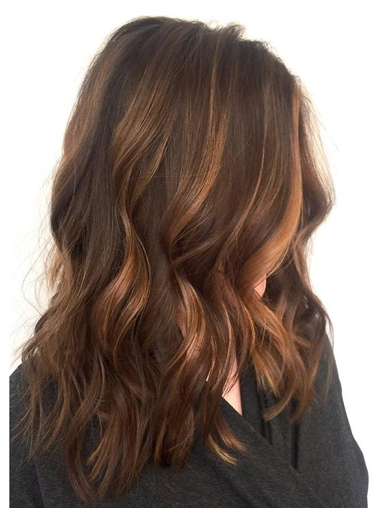 Brown Hair With Auburn And Caramel Highlights Brown Hairs