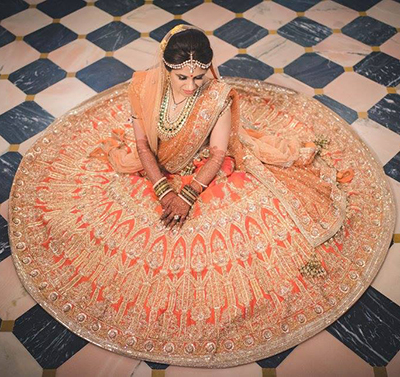 7. Burnt Orange Lehenga