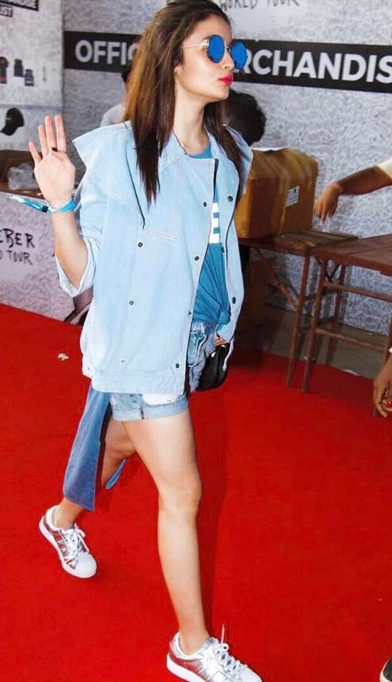 Alia In Denims And Round Shades