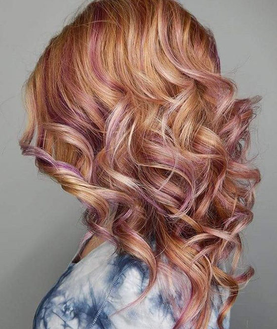 Pink Hair Brown Shadow Root Chocolate Strawberry Ombre Of