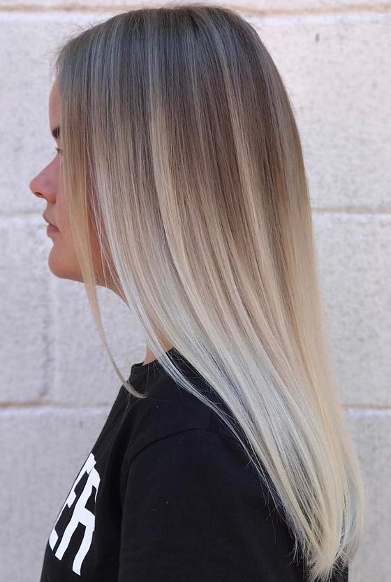30 ash blonde hair color ideas that youll want to try out right away ash blonde gradient pmusecretfo Gallery