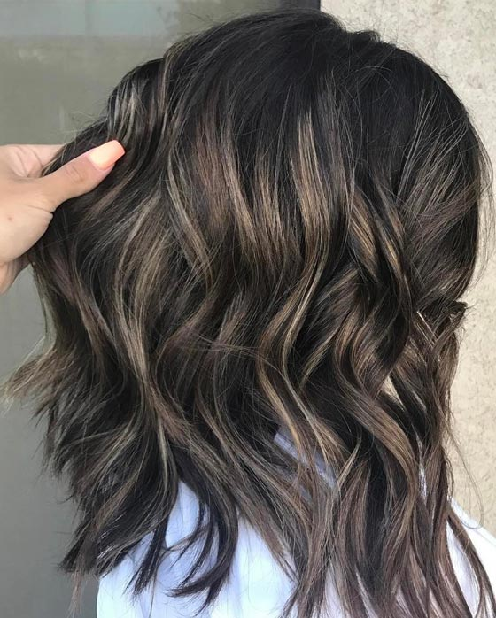 Ash-Blonde-Highlights-On-Dark-Hair